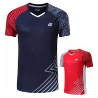T shirt Olahraga YY 2026 Tshirt badminton Kaos bulutangkis Baju Badmin