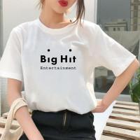 BAJU KAOS BTS BIG HIT ENTERTAINMENT WANITA KPOP KOREA UNISEX TERBARU