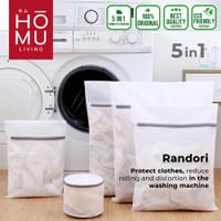 HOMU RANDORI 5in1 Laundry Bag Jaring Baju Kotor Kantong Mesin Cuci Bra