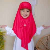 Hijab Anak Topi Pita 4-7Th Matt Jersey Zoya / Kerudung Anak Perempuan
