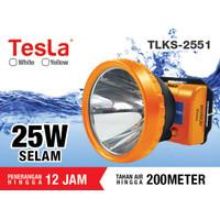 Tesla Senter Kepala Selam LED Super Terang Lithium TLKS 2551 KUNING