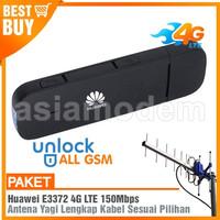 Paket Modem Huawei E3372 4G LTE 150Mbps & Antena Yagi TXR185 25dBi