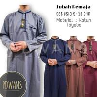 JUBAH REMAJA TANGGUNG Baju Muslim Anak Jubah Gamis Seri Warna PDWANS