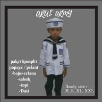 Baju pelaut anak / baju karnaval / kostum profesi anak / seragam pelau