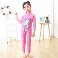 Baju renang anak perempuan panjang onepices suit unicorn princess pink
