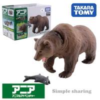 Miniatur Hewan Beruang Takara Tomy Tomica Ania AS-24 Brown Bear Animal