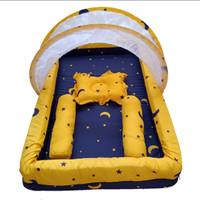 kasur bayi kolam kelambu kombinasi