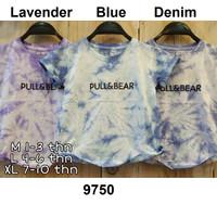 Kaos Anak Pull & Bear cowok cewek Tie Dye casual baju santai anak adem