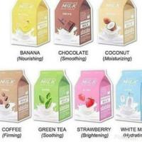 APIEU milk one pack mask sheet-white milk