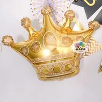 balon foil mahkota / balon foil crown besar Gold