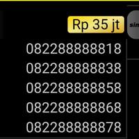 Nomor Cantik simpati 4G 0822 888888 18 hexa 888888 unik hoki mi1