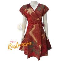 DRESS BATIK WANITA MODERN, DRESS WANITA KOREA, DRESS NATAL IMLEK