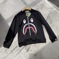 Sweater Crewneck Bape Shark WGM Big Embroidery Black