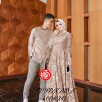 da baju couple gamis brokat kemeja busana muslim fashion pria wanita