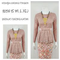 9265   Indah Kebaya Abaya Kurung Modern Encim Kutubaru Bali Maya Murah - Peach, S
