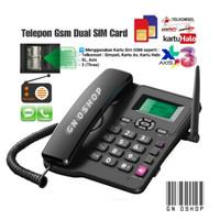 Telepon Gsm Rumah Kantor Dual Sim Card ON - Telpon Phone Telp FWP GSM