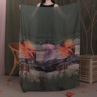 Gaia Scarf (big size) - 100 x 150 cm - Olive Green