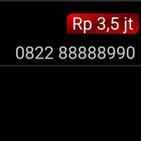 Nomor Cantik simpati 4G 0822 88888 990 panca 88888 unik hoki mi1