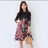 Baju Batik Wanita-Dress Batik Wanita 493