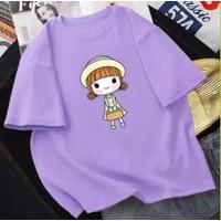 T-Shirt / Kaos Oversize Wanita Motif Kartun Fit To 3Xl