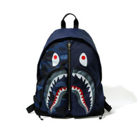 Bape Color Camo Shark Day Pack Red - Blue 100% Authentic