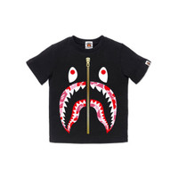 Bape Kids ABC Camo Shark tee - Black/Pink - 120