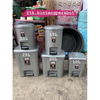 SHINPO-Tempat Sampah Injak Bulet + Ember 15 Liter