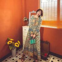 Maxi Dress Bohemian Look Beach Party Picnic Baju Wanita