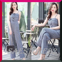 Baju Jumpsuit Wanita Remaja Terbaru trendy Kasual With Real Pic BANK