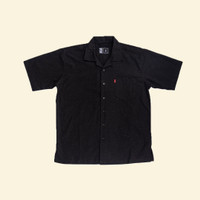 Kemeja Polos Lengan Pendek Hitam Monochrome SS Arcus Shirt