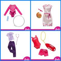 Barbie fashion baju profesi outfit rok boneka mainan anak ori mattel