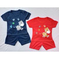 Setelan OBLONG KATUN Bayi Usia 0-12 Bulan motif PONY