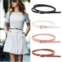 Ikat Ban Pinggang Wanita THIN KECIL #648 Korea Fashion Kulit PU Belt