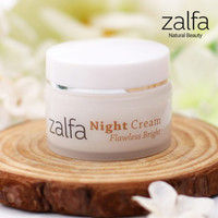 NIGHT CREAM FLAWLESS BRIGHT BY ZALFA NATURAL