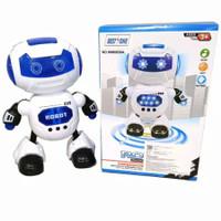 Mainan Dance Robot Putih Biru No WM0858A