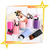 MINISTAR R034 Brush Set Tube Kuas Rias Make Up 12 Pcs Kuas Make Up