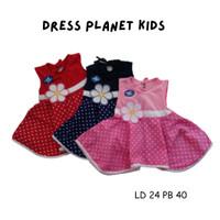Dress bayi usia 3-9 bulan / Dress Planet kidz/baju anak perempuan lucu