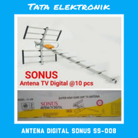 Antena Tv Luar Outdoor Digital Produk Sanex Sonus SS - 008 + Kabel 13M