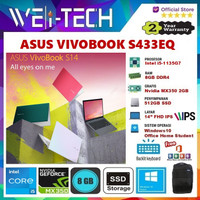 ASUS VIVOBOOK S433EQ i5-1135G7 8GB 512GB NVIDIA MX350 2GB 14FHD WIN10