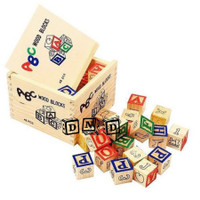 Mainan Edukatif / Edukasi Anak - Balok Kayu - Huruf Alfabet ABC isi 27