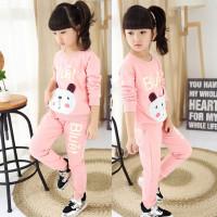 Baju setelan anak perempuan 1 2 3 4 5 6 7 tahun pink lucu baju hangat