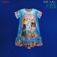 (DABG21L) Daster Anak Frozen Beautiful Dream (Usia 9-12 Thn)