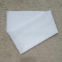 Preloved jilbab segi empat warna putih polos