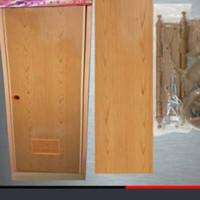 Pintu PVC Kamar Mandi Coklat Motif Urat kayu
