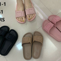 Sandal Wanita Balance Jelly Kokop - Merah Muda, 40-41