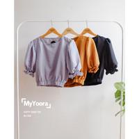 PROMO [MyYoora] Puffy Crop Top Blouse Atasan Wanita BL1260