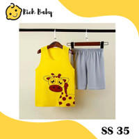 SS35 / Setelan Singlet Anak Import / Baju Singlet Anak Unisex