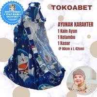 Ayunan karakter perlengkapan bayi dengan ayunan kain kasur kelambu(SJ)