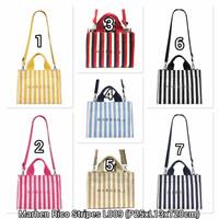 (BISA COD) Tas Marhen J Rico Stripe-Tas Fashion Korea Kanvas