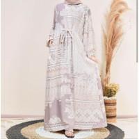 Gamis wanita pakaian muslim dress rayon tanpa Hijab